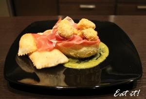 Gnocco fritto tricolore